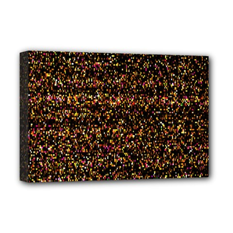 Pixel Pattern Colorful And Glowing Pixelated Deluxe Canvas 18  X 12   by Simbadda