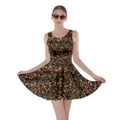 Pixel Pattern Colorful And Glowing Pixelated Skater Dress