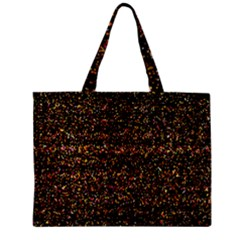 Pixel Pattern Colorful And Glowing Pixelated Zipper Mini Tote Bag by Simbadda
