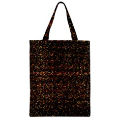 Pixel Pattern Colorful And Glowing Pixelated Zipper Classic Tote Bag by Simbadda