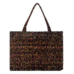 Pixel Pattern Colorful And Glowing Pixelated Medium Tote Bag by Simbadda