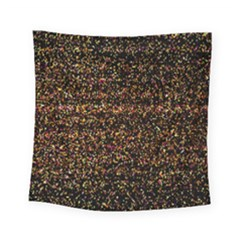 Pixel Pattern Colorful And Glowing Pixelated Square Tapestry (small) by Simbadda