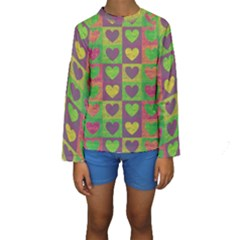 Pattern Kids  Long Sleeve Swimwear by Valentinaart