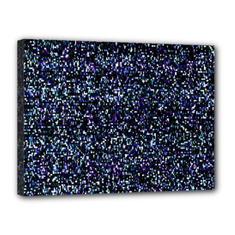 Pixel Colorful And Glowing Pixelated Pattern Canvas 16  X 12  by Simbadda