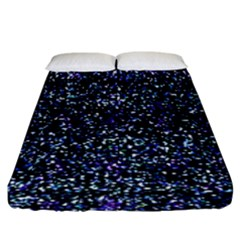 Pixel Colorful And Glowing Pixelated Pattern Fitted Sheet (king Size) by Simbadda