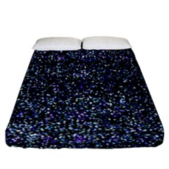 Pixel Colorful And Glowing Pixelated Pattern Fitted Sheet (california King Size) by Simbadda