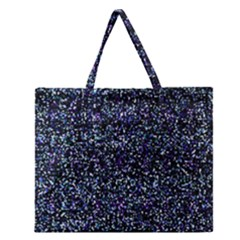 Pixel Colorful And Glowing Pixelated Pattern Zipper Large Tote Bag by Simbadda