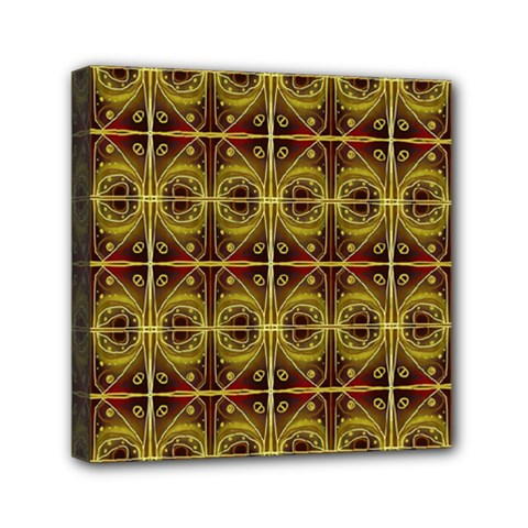 Seamless Symmetry Pattern Mini Canvas 6  X 6  by Simbadda