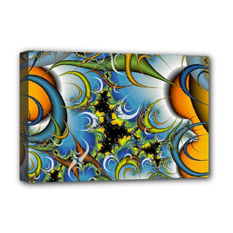 Fractal Background With Abstract Streak Shape Deluxe Canvas 18  X 12   by Simbadda