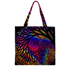 3d Fractal Mandelbulb Zipper Grocery Tote Bag by Simbadda