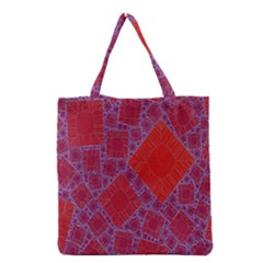 Voronoi Diagram Grocery Tote Bag by Simbadda