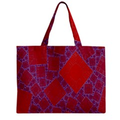 Voronoi Diagram Zipper Mini Tote Bag by Simbadda