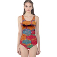 Abstract Art Pattern One Piece Swimsuit