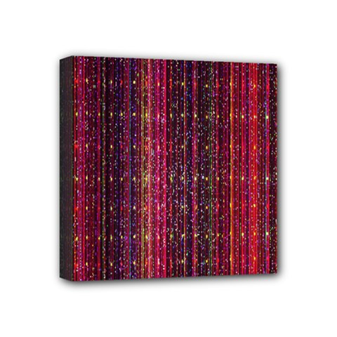 Colorful And Glowing Pixelated Pixel Pattern Mini Canvas 4  X 4  by Simbadda
