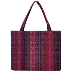 Colorful And Glowing Pixelated Pixel Pattern Mini Tote Bag by Simbadda
