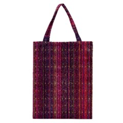 Colorful And Glowing Pixelated Pixel Pattern Classic Tote Bag by Simbadda