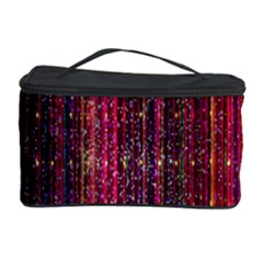 Colorful And Glowing Pixelated Pixel Pattern Cosmetic Storage Case by Simbadda