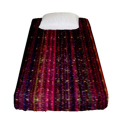 Colorful And Glowing Pixelated Pixel Pattern Fitted Sheet (single Size) by Simbadda