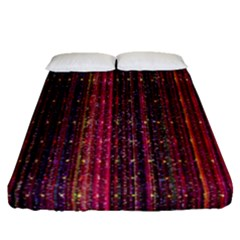 Colorful And Glowing Pixelated Pixel Pattern Fitted Sheet (queen Size) by Simbadda