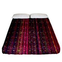 Colorful And Glowing Pixelated Pixel Pattern Fitted Sheet (king Size) by Simbadda