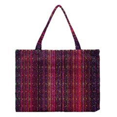 Colorful And Glowing Pixelated Pixel Pattern Medium Tote Bag by Simbadda