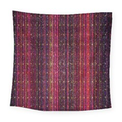 Colorful And Glowing Pixelated Pixel Pattern Square Tapestry (large) by Simbadda