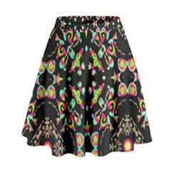 Abstract Elegant Background Pattern High Waist Skirt by Simbadda