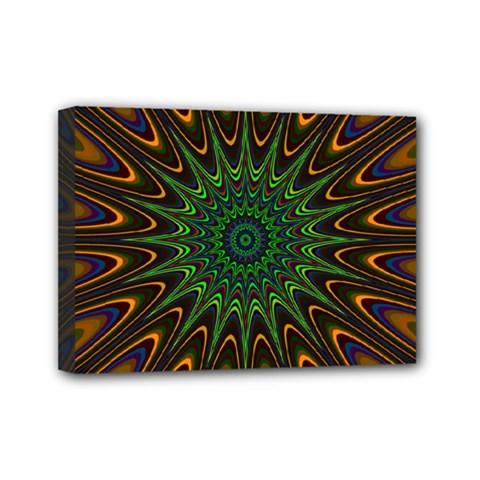 Vibrant Colorful Abstract Pattern Seamless Mini Canvas 7  X 5  by Simbadda