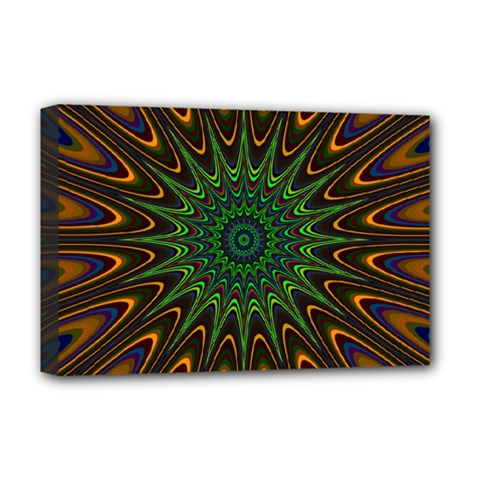 Vibrant Colorful Abstract Pattern Seamless Deluxe Canvas 18  X 12   by Simbadda