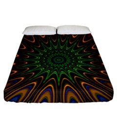 Vibrant Colorful Abstract Pattern Seamless Fitted Sheet (california King Size) by Simbadda