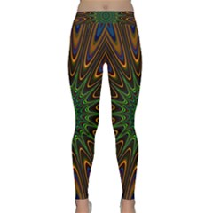 Vibrant Colorful Abstract Pattern Seamless Classic Yoga Leggings