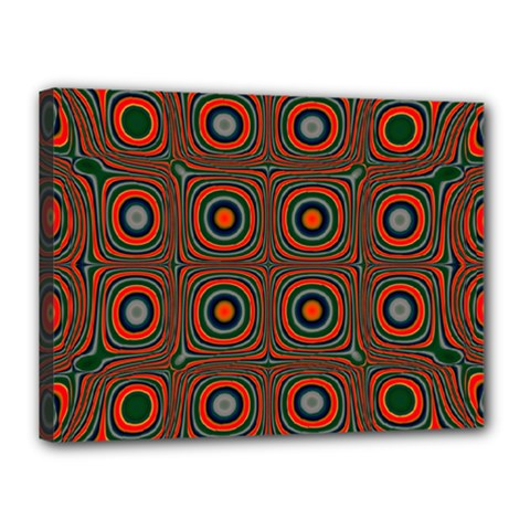 Vibrant Pattern Seamless Colorful Canvas 16  X 12  by Simbadda