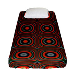 Vibrant Pattern Seamless Colorful Fitted Sheet (single Size) by Simbadda