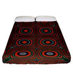 Vibrant Pattern Seamless Colorful Fitted Sheet (king Size) by Simbadda