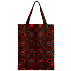 Vibrant Pattern Seamless Colorful Zipper Classic Tote Bag by Simbadda