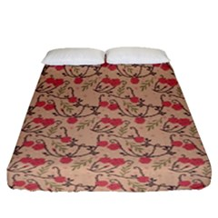 Vintage Flower Pattern  Fitted Sheet (queen Size) by TastefulDesigns