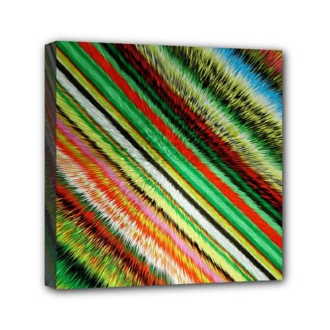 Colorful Stripe Extrude Background Mini Canvas 6  X 6