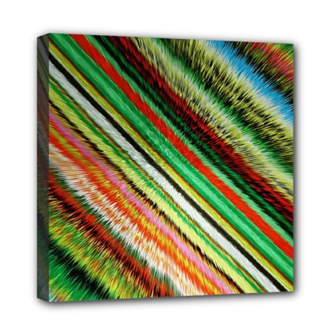 Colorful Stripe Extrude Background Mini Canvas 8  X 8  by Simbadda