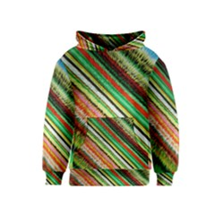 Colorful Stripe Extrude Background Kids  Pullover Hoodie