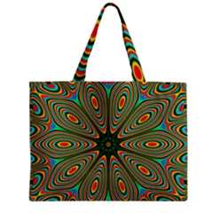 Vibrant Seamless Pattern  Colorful Zipper Mini Tote Bag by Simbadda