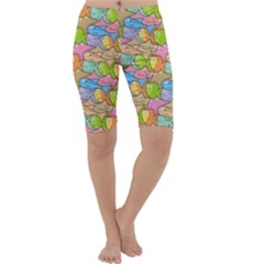 Fishes Cartoon Cropped Leggings  by sifis