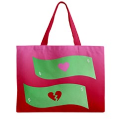 Money Green Pink Red Broken Heart Dollar Sign Zipper Mini Tote Bag by Alisyart