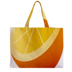 Orange Lime Yellow Fruit Fress Medium Zipper Tote Bag by Alisyart