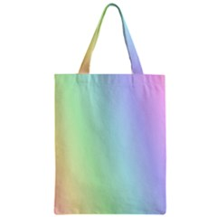 Multi Color Pastel Background Zipper Classic Tote Bag