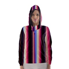 Multi Color Vertical Background Hooded Wind Breaker (women) by Simbadda