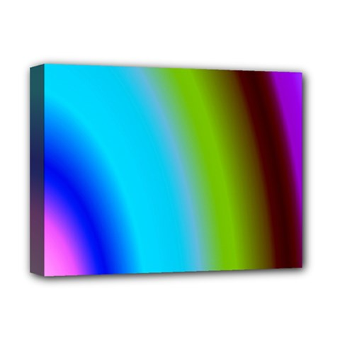 Multi Color Stones Wall Multi Radiant Deluxe Canvas 16  X 12   by Simbadda