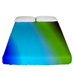Multi Color Stones Wall Multi Radiant Fitted Sheet (king Size) by Simbadda