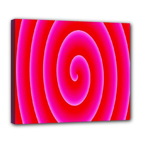 Pink Hypnotic Background Deluxe Canvas 24  X 20   by Simbadda