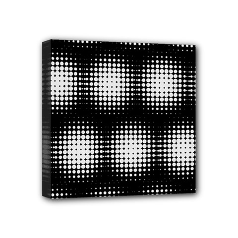 Black And White Modern Wallpaper Mini Canvas 4  X 4  by Simbadda