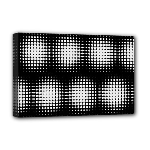 Black And White Modern Wallpaper Deluxe Canvas 18  X 12   by Simbadda